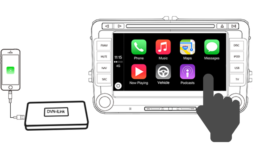 dynavin dvn ilink apple carplay module for n6 platform dynavin direct new n7. Black Bedroom Furniture Sets. Home Design Ideas